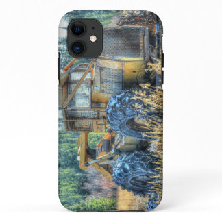 Farm Machinery, Tractor, Back-Hoe, Farm Vehicle iPhone 11 Case