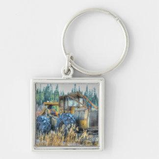 Farm Machinery, Tractor, Back-Hoe, Farm Vehicle Keychain