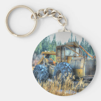 Farm Machinery, Tractor, Back-Hoe, Farm Vehicle Keychain