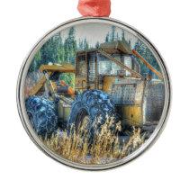 Farm Machinery, Tractor, Back-Hoe, Farm Vehicle Metal Ornament