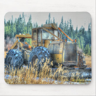 Farm Machinery, Tractor, Back-Hoe, Farm Vehicle Mouse Pad