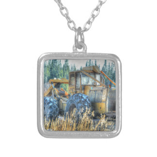 Farm Machinery, Tractor, Back-Hoe, Farm Vehicle Necklaces