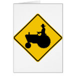 Farm Machinery Traffic Highway Sign Cards