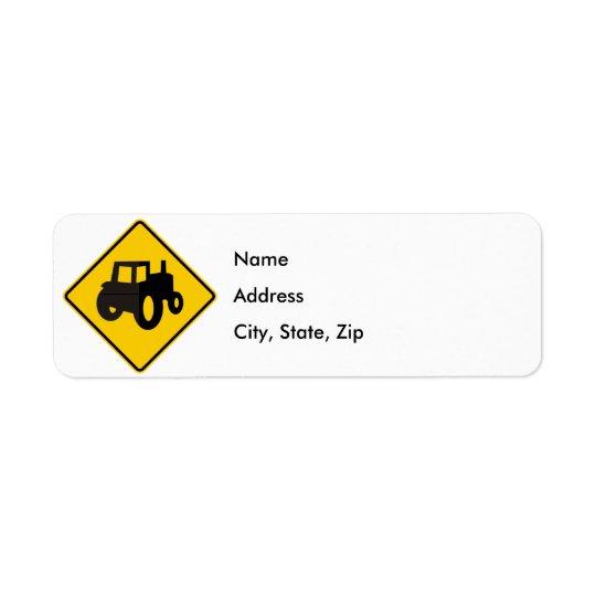 Farm Machinery Traffic Highway Sign Label