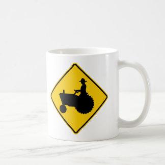Farm Machinery Traffic Highway Sign Classic White Coffee Mug