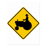Farm Machinery Traffic Highway Sign Post Cards
