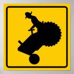 Farm Machinery Traffic Highway Sign Print