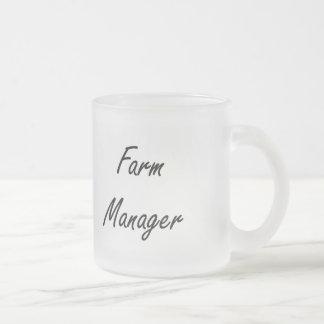Farm Manager Artistic Job Design 10 Oz Frosted Glass Coffee Mug