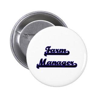 Farm Manager Classic Job Design 2 Inch Round Button