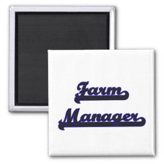 Farm Manager Classic Job Design 2 Inch Square Magnet