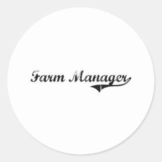 Farm Manager Professional Job Stickers