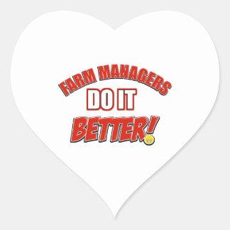 Farm Managers designs Heart Sticker