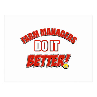 Farm Managers designs Postcard
