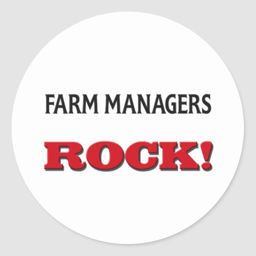 Farm Managers Rock Stickers