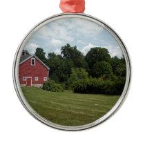 farm metal ornament