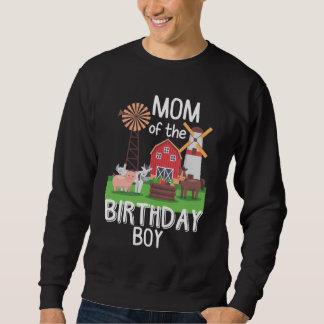 Farm Mom Birthday Boy Mother Animal loving Kid Sweatshirt