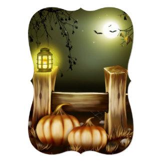 Farm Moon & Pumpkins Halloween Party Invitations