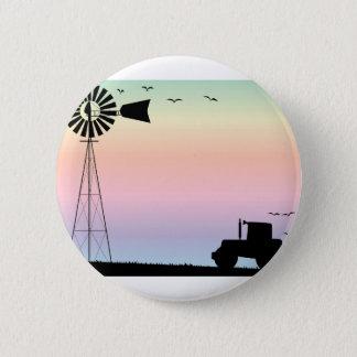 Farm Morning Sky Button