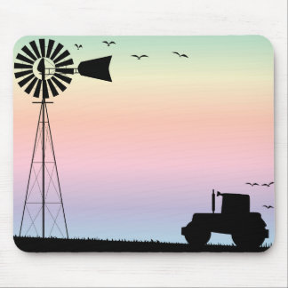 Farm Morning Sky Mouse Pad