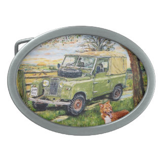 """""""FARM"""" Old Style Land Rover Belt Buckle"""