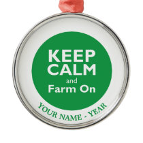 Farm On Metal Ornament