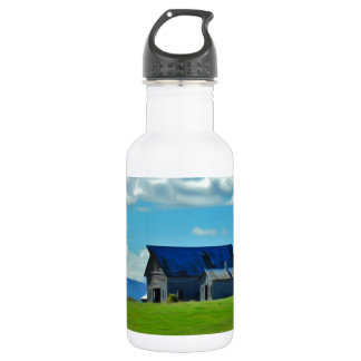 Farm on the hill stainless steel water bottle