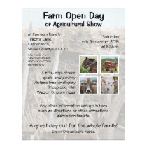 Farm open day or agricultural show flyer