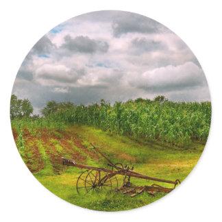 Farm - Organic farming Classic Round Sticker