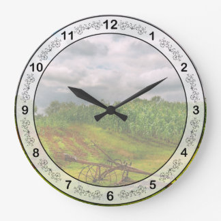 Farm - Organic farming Large Clock