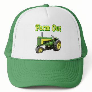 Farm Out Vintage Tractor Trucker Hat