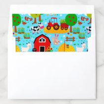 Farm Party Barn Animals Pattern Envelope Liner