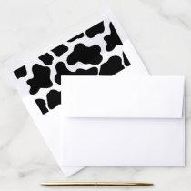 Farm Party Cow Print Black White Envelope Liner