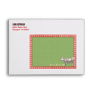 Farm Party Envelope for Invitation