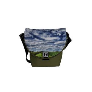 Farm Path Skyscape HDR Courier Bag