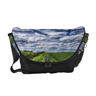 Farm Path Skyscape HDR Messenger Bag