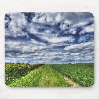 Farm Path Skyscape HDR Mouse Pad