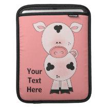 Farm Pig (customizable) iPad Sleeve