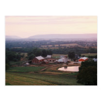 Farm Pond at Dawn I. Mountville, Miidletown Valley Postcard