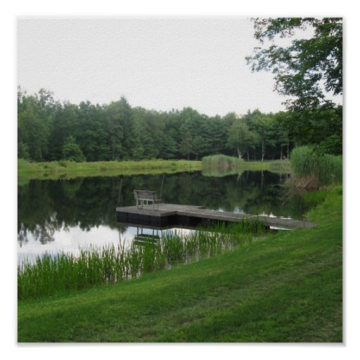 Farm pond poster zazzle for Design of farm pond ppt