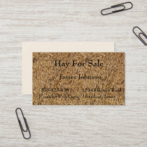 Farm Ranch Hay Bale Print Business Cards