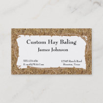 Farm Ranch Hay Print Business Cards