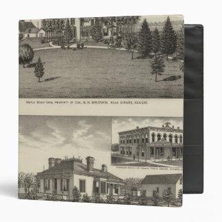 Farm, Residence and Business Block, Girard, Kansas 3 Ring Binder