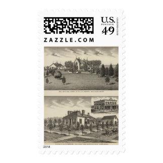 Farm, Residence and Business Block, Girard, Kansas Postage Stamp