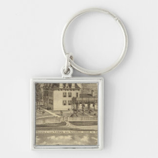 Farm residence of Judge RS Brown Key Chains