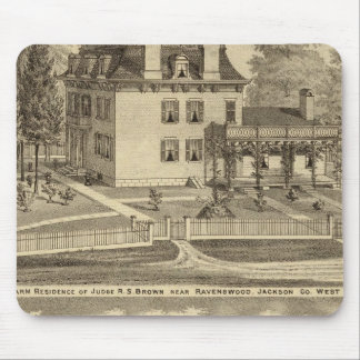 Farm residence of Judge RS Brown Mouse Pad
