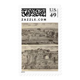 Farm residences of HB Kay and YA Glenn Postage Stamp