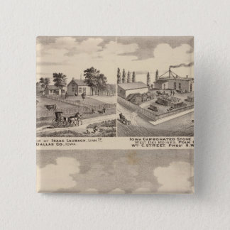 Farm, residences & pipe works pinback button