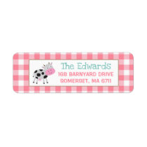 Farm Return Address Labels Farmyard Birthday Party