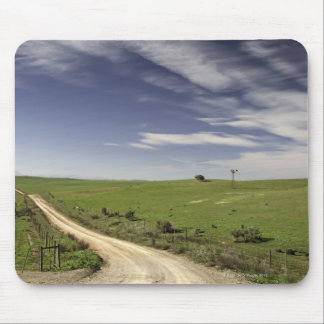 Farm road twining between wheat fields, Caledon, Mouse Pad