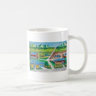 Farm scene art coffee mug